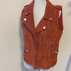 Blank NYC Suede Vest sz Large